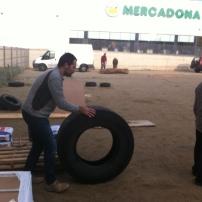 Preparant els pneumàtics