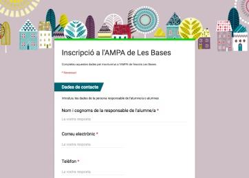 Inscripció AMPA